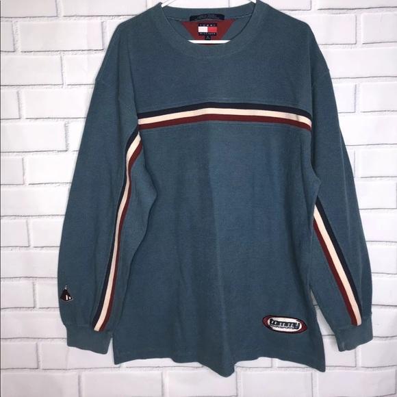 1b1ab3082 Tommy Hilfiger Shirts   Vintage Crewneck Shirt 90s Xl   Poshmark